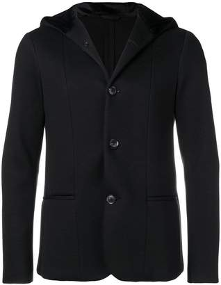 Emporio Armani buttoned hooded jacket