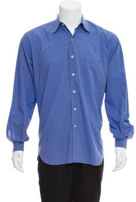 Barneys New York Barney's New York Gingham Button-Up Shirt