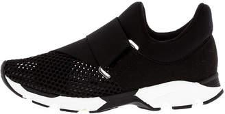 All Black Graphic Tie Sneaker