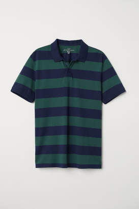 H&M Striped Polo Shirt - Green