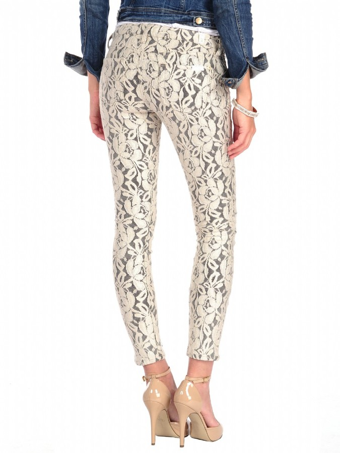 7 For All Mankind The Skinny in Lace Orchid