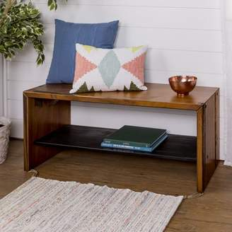 Manor Park Rustic Solid Wood Entry Storage Bench - Amber