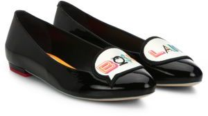Sophia Webster Boss Lady Patent Leather Flats $395 thestylecure.com