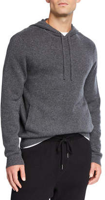 Neiman Marcus Men's Recycled Cashmere Pullover Hoodie