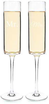 Cathy's Concepts Cathys Concepts Mr. and Mrs. 2 Piece Contemporary Champagne Flutes Set