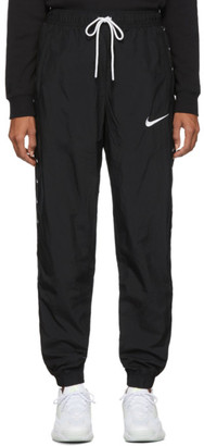 Nike Black Woven Swoosh Lounge Pants