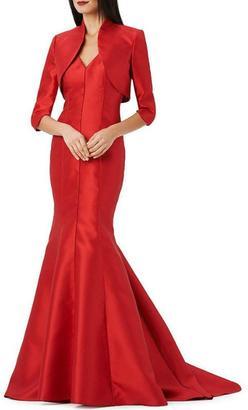 Adrianna Papell V-Neck Mikado Gown $320 thestylecure.com