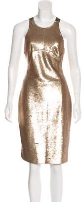 Mr & Mrs Italy Sequined Crossover Dress