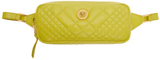 Versace Green Quilted Tribute Belt Bag