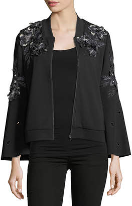 Neiman Marcus Kobi Halperin Colie Floral-Applique Jacket