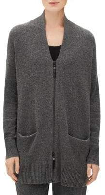 Lafayette 148 New York Lafayette 148 New York, Plus Size Cashmere Zip-Front Cardigan