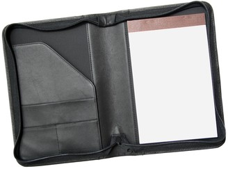Royce Leather Zippered Jr. Padfolio