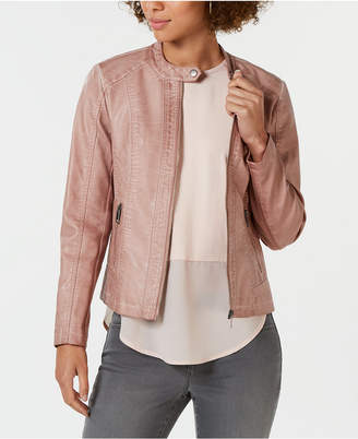 2fbde7b3ba5 Style Co. Style   Co Petite Faux-Leather Moto Jacket