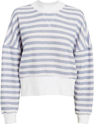 Frame Drop Shoulder Striped Sweater