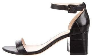 Alexandre Birman Eel Skin Ankle Strap Sandals