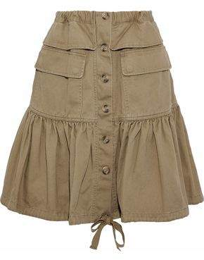 RED Valentino Fluted Cotton-Twill Skirt