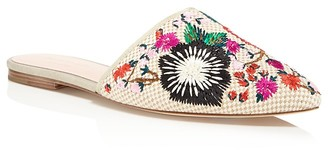 kate spade new york Monteclair Embroidered Mules $238 thestylecure.com