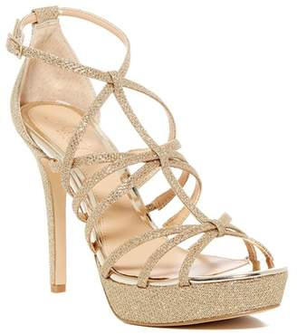 Badgley Mischka Taura Glitter Mesh Platform Sandal