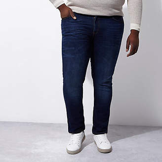 River Island Big and Tall dark blue Dylan slim fit jeans