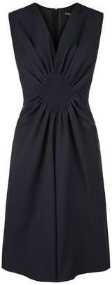 Paule Ka Poplin Fit-And-Flare Dress