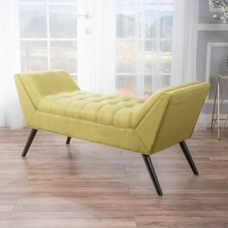 Noble House Gina Fabric Bench, Green