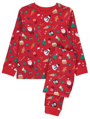 at george asda a george red christmas twosie set