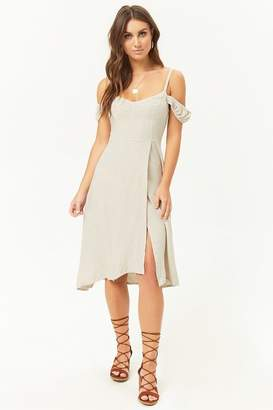 Forever 21 Linen-Blend Tulip Hem Dress