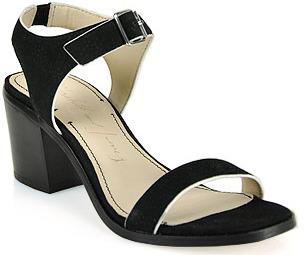 Elizabeth and James Ryann - Block Heeled Mid Sandal in Black