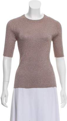 3.1 Phillip Lim Glittered Knit Top Nude Glittered Knit Top