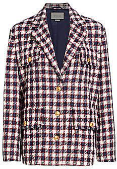 Gucci Men's Lightweight Tweed Plaid Swing Jacket
