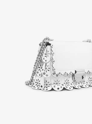 MICHAEL Michael Kors Sloan Small Floral Scalloped Leather Shoulder Bag