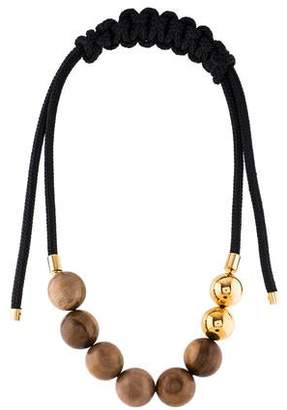 Marni Wood & Rope Collar Necklace