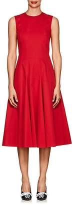Derek Lam Women's Stretch-Cotton Flared Dress