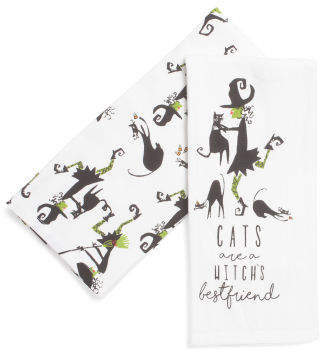Set Of 2 Witch's Best Friend Towels