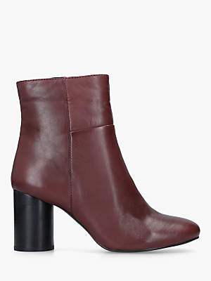 Carvela Pop Leather Heeled Ankle Boots