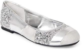 Nina Kids Girls) Silver Davina Metallic Ballet Flats