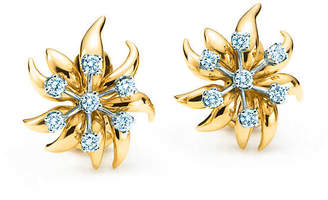 Tiffany & Co. Schlumberger Flame ear clips