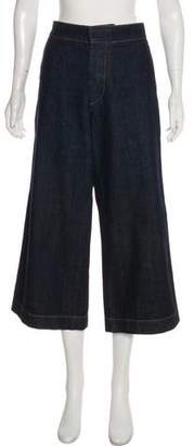 Marni Cropped High-Rise Jeans