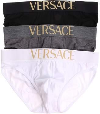 Versace Logo Embroidered Briefs