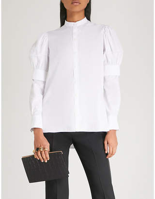 Alexander McQueen Layered cotton-poplin shirt