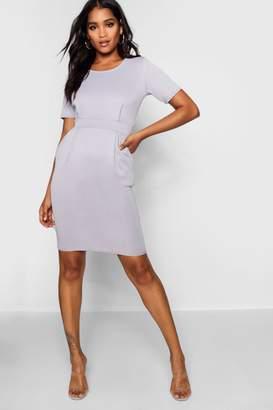 boohoo Tailored Pleated Dress