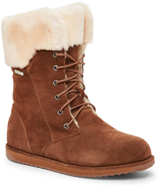 emu Oak Shoreline Lace-Up Sheepskin Boots $179 thestylecure.com