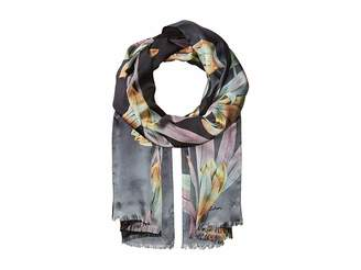 Echo Cascading Floral Double-Faced Wrap