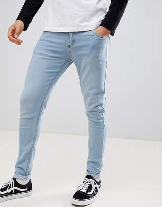 Criminal Damage Skinny Jeans in Ice Wash