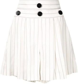Comme Moi pinstripe shorts