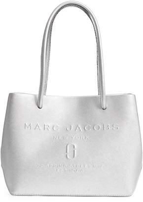 Marc Jacobs Mini Metallic Leather Logo Shopper Tote