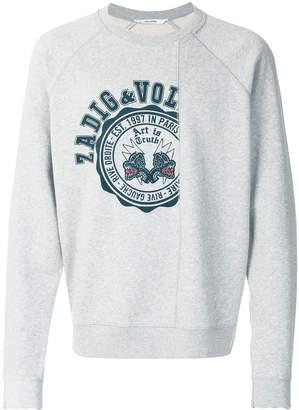 Zadig & Voltaire crest print sweatshirt