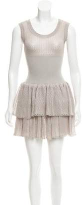 Alaia Fit & Flare Sleeveless Dress