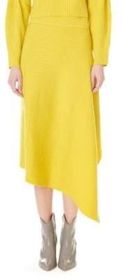 Tibi Origami Wool Midi Skirt