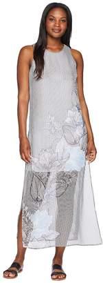 Vince Camuto Sleeveless Island Floral Chiffon Overlay Maxi Dress Women's Dress
